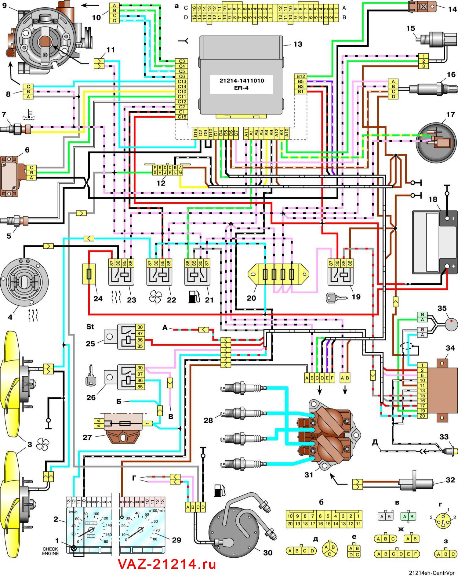 Схема электрика 21214