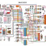 Электросхема ВАЗ 21213 Нива
